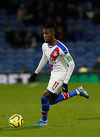30th November 2019; Turf Moor, Burnley, Lanchashire, England; English Premier League Football, Burnley versus Crystal Palace; Wilfried Zaha of Crystal Palace - Strictly Editorial Use Only. No use with unauthorized audio, video, data, fixture lists, club/league logos or 'live' services. Online in-match use limited to 120 images, no video emulation. No use in betting, games or single club/league/player publications