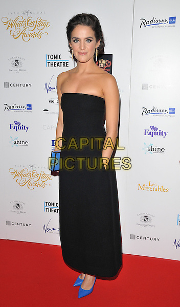 Lauren Samuels attends the Whatsonstage.com Awards Concert 2016, Prince of Wales Theatre, Coventry Street, London, UK, on Sunday 21 February 2016.<br /> CAP/CAN<br /> &copy;CAN/Capital Pictures
