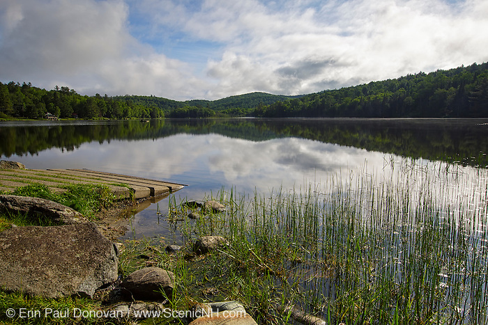 Streeter Pond in Sugar Hill, New Hampshire USA during the spring months