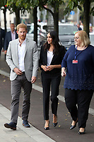 The Duke and Duchess of Sussex are pictured visiting the Famine Memorial in Dublin, Ireland.<br /> <br /> Their Royal Highnesses will view the famine memorial on the bank of the River Liffey and hear about the history of the Great Irish Famine during 1845-1849.<br /> <br /> JULY 11th 2018<br /> <br /> REF: MTX 182532<br /> <br /> Credit: Trevor Adams/Matrix/MediaPunch ***NO UK***
