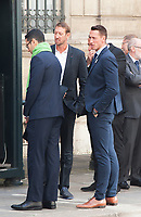 September 15 2017, PARIS FRANCE Delegation of Paris 2024 welcomed<br /> by the French President Emmanuel MACRON at the Elysee Palace. Sportsmen were present, the swimmers<br /> Frederic BOUSQUET and Alain BERNARD