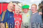 Showing their county colours in Linehans bar, Killarney, were Martin Griffin, James Kennedy, Larry Hickey and Tony Kearns.