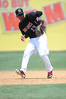 New Britain Rock Cats infielder Eddie Rosario (13) during game against the Altoona Curve  at New Britain Stadium on June 25, 2014 in New Britain, Connecticut. New Britain defeated Altoona 3-1.  (Tomasso DeRosa/Four Seam Images)