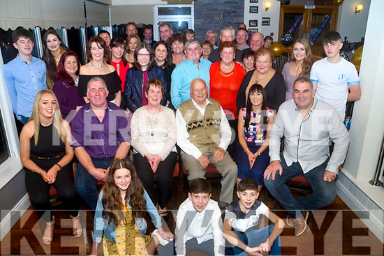 Teddy & Noreen Mangan surrounded by Family & Friends who came together on Saturday night in Killorglin Golf Club to celebrate Teddy's 80th Birthday.
