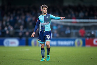 Dominic Gape of Wycombe Wanderers during the Sky Bet League 2 match between Wycombe Wanderers and Yeovil Town at Adams Park, High Wycombe, England on 14 January 2017. Photo by Andy Rowland / PRiME Media Images.