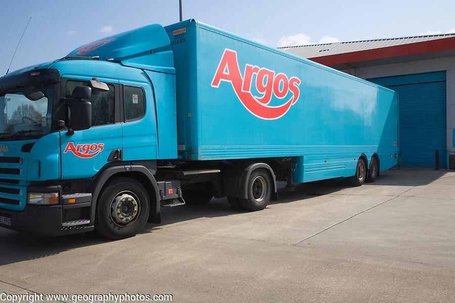 Argos delivery lorry, UK