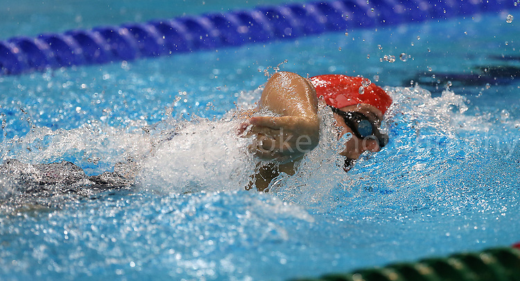 Paralympics London 2012 - ParalympicsGB - Swimming..Matthew Whorwood competes in the Men's 100m Freestyle - S6 Final held at the Aquatic Centre 8th September 2012 at the Paralympic Games in London. Photo: Richard Washbrooke/ParalympicsGB