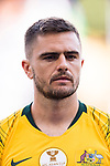Josh Risdon of Australia is seen prior to the AFC Asian Cup UAE 2019 Group B match between Australia (AUS) and Jordan (JOR) at Hazza Bin Zayed Stadium on 06 January 2019 in Al Ain, United Arab Emirates. Photo by Marcio Rodrigo Machado / Power Sport Images