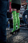 'Sex Panther' vocalist Maegan de Grood in Saint Patrick's Day thigh highs.