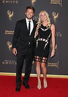 LOS ANGELES, CA - SEPTEMBER 09: Jason Marello, Tara Long, at the 2017 Creative Arts Emmy Awards at Microsoft Theater on September 9, 2017 in Los Angeles, California. <br /> CAP/MPIFS<br /> &copy;MPIFS/Capital Pictures