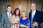 L-R John&Suzanne O'Sullivan with Lilly&Brendan Kirby at the Lee Strand social last Saturday night in the Ballygarry House hotel, Tralee.