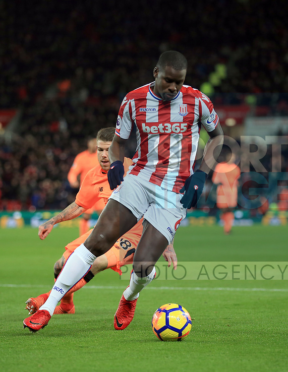 Kurt Zouma of Stoke City during the premier league match at the bet365 Stadium, Stoke on Trent. Picture date 29th November 2017. Picture credit should read: Clint Hughes/Sportimage