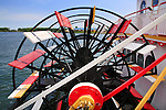 A Ship's Paddle Wheel At The Public Dock In Erie Pennsylvania, USA