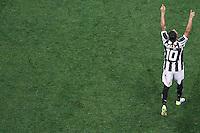 SÃO PAULO,SP,18.05.2014 - CAMPEONATO BRASILEIRO - CORINTHIANS x FIGUEIRENSE-  Giovani Augusto jogador do Figueirense comemora gol durante partida entre Corinthians x Figueirense valido pela 05º rodada do Campeonato Brasileiro no estádio Arena Corinthians na tarde deste domingo (18).(Foto Ale Vianna/Brazil Photo).