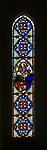 Stained glass window in church of Saint Nicholas, Fisherton Delamere, Wiltshire, England, UK - James Powell & Sons 1861