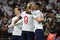 Marcus Rashford of England celebrates with Harry Kane (9) after scoring to make it 4-0 during the UEFA Euro 2020 Qualifying Group A match between England and Montenegro at Wembley Stadium on November 14th 2019 in London, England. (Photo by Matt Bradshaw/phcimages.com)<br /> Foto PHC Images / Insidefoto <br /> ITALY ONLY