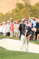 2nd February 2020, TPC Scottsdale, Arizona, USA;  Bubba Watson hits from a bunker on the second hole during the final round of the Waste Management Phoenix Open