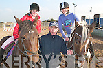 TRAINING: Taking some sound advice from International Showjumper Tom Vance (centre) at the Tralee Equestrian Centre on Thursday were Barbara Higgins and Una O'Sullivan.   Copyright Kerry's Eye 2008
