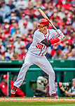 3 April 2017: Washington Nationals catcher Matt Wieters in action against the Miami Marlins on Opening Day at Nationals Park in Washington, DC. The Nationals defeated the Marlins 4-2 to open the 2017 MLB Season. Mandatory Credit: Ed Wolfstein Photo *** RAW (NEF) Image File Available ***
