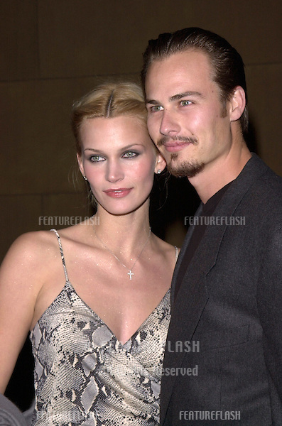"13DEC99: Actor LIAM WAITE & actress girlfriend NATASHA HENSTRIDGE at the Los Angeles premiere of his new movie ""Simpatico."".© Paul Smith / Featureflash"