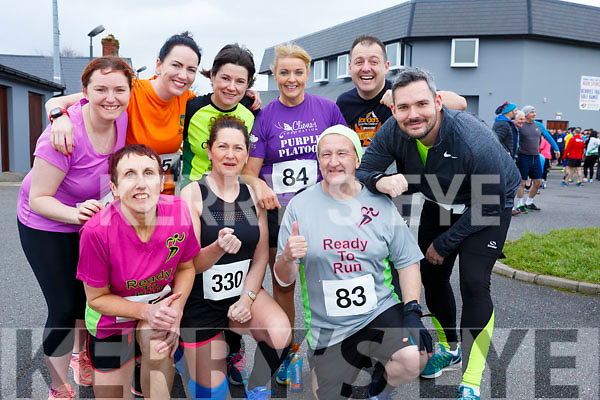 Attending the Kerins O'Rahilly's 10k Walk in honour of local running legend&nbsp;John Griffin on Sunday morning last. Kneeing L-r, Ann O&rsquo;Leary (Currow), Marie Hickey (Knocknagoshel) and George Glover (Ballymac).<br /> Standing l-r, Seline O&rsquo;Grady (Castleisland), Laura Fitzgerald (Castleisland), Caroline Walsh (Castleisland), Eileen Brennan (Castleisland), Morris Breen (Tralee), Graham Batey (Gneeveguilla).