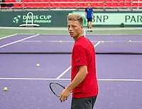 Moscow, Russia, 14 th July, 2016, Tennis,  Davis Cup Russia-Netherlands, Dutch team practise,  Tim van Rijthoven (NED)<br /> Photo: Henk Koster/tennisimages.com