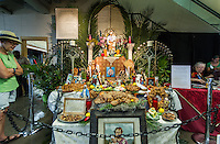 A St. Joseph Day's Altar for Allen Toussaint at Jazz Fest 2016.