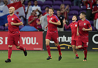Orlando, FL - Friday Oct. 06, 2017: Michael Bradley, Matt Besler, Jorge Villafaña during a 2018 FIFA World Cup Qualifier between the men's national teams of the United States (USA) and Panama (PAN) at Orlando City Stadium.