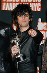NEW YORK, New York - September 13: Billie Joe Armstrong of Green Day  poses in the press room at the 2009 MTV Video Music Awards at Radio City Music Hall on September 13, 2009 in New York City.