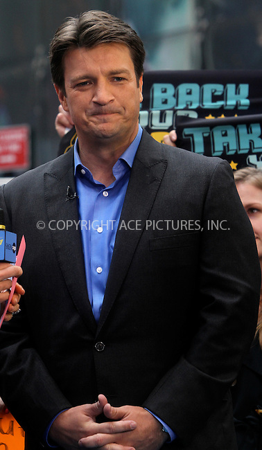 WWW.ACEPIXS.COM . . . . .  ....May 4 2012, New York City....Actor Nathan Fillion maede an appearance at Good Morning America on May 4 2012 in New York City....Please byline: NANCY RIVERA- ACEPIXS.COM.... *** ***..Ace Pictures, Inc:  ..Tel: 646 769 0430..e-mail: info@acepixs.com..web: http://www.acepixs.com