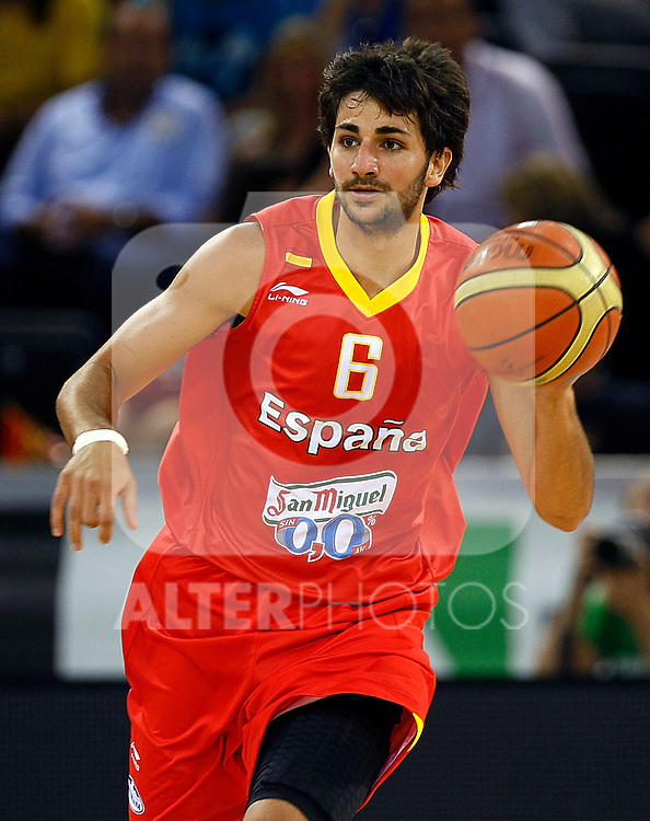 Spain's Ricky Rubio during friendly match.August 13,2011. (ALTERPHOTOS/Acero)