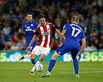 Chris Basham of Sheffield Utd during the Championship match at the Cardiff City Stadium, Cardiff. Picture date: August 15th 2017. Picture credit should read: Simon Bellis/Sportimage