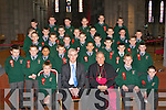 Killarney Monastery pupils who were confirmed in St Mary's Cathedral, Killarney on Friday front row l-r: Daniel Cronin, Col O'Sullivan, Bishop Bill Murphy, Conor McSherry, John J O'Brien. Second row: David Hartnett, John Harrington, Conor Leahy, Gavin White, Corie Mangan, Kevin Brosnan, David Murphy, Jason O'Brien Third row: Dylan O'Sullivan, Shane Cronin, Kyle Griffin, Christopher O'Brien, Jack Lenihan, Jordan Adams Back row: Jason Maye, Denis Fleming, Darren O'Doherty, Mark Moriarty, Jason O'Leary, Donal Lyne, Shane Lyne, Steve Lyne, John Gaffey, Eoin Walsh, Redmond Early, John O'Brien, Jason O'Sullivan and Patrick O'Regan