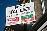 Shop to let commercial property sign, UK