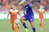 Lianne Sanderson (10) of the Orlando Pride clears the ball against the Houston Dash on Friday, May 20, 2016 at BBVA Compass Stadium in Houston Texas. The Orlando Pride defeated the Houston Dash 1-0.