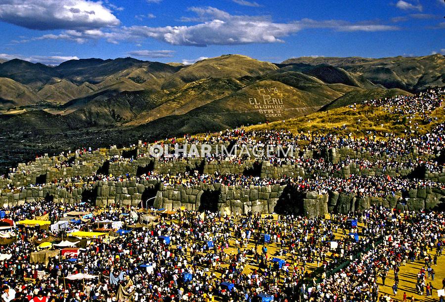 Festa do sol, Inti Raimi na cidade de Cuzco. Peru. 06. 1994. Foto de Juca Martins.