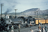 D&amp;RGW #490 with Rocky Mountain Railroad Club excursion train at Durango depot.<br /> D&amp;RGW  Durango, CO