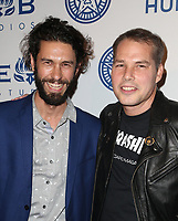LOS ANGELES, CA - NOVEMBER 7: Tom Franco, Shepard Fairey, at Photo Op For Hulu's 'Obey Giant at the The Theatre at Ace Hotel in Los Angeles, California on November 7, 2017. Credit: Faye Sadou/MediaPunch /NortePhoto.com