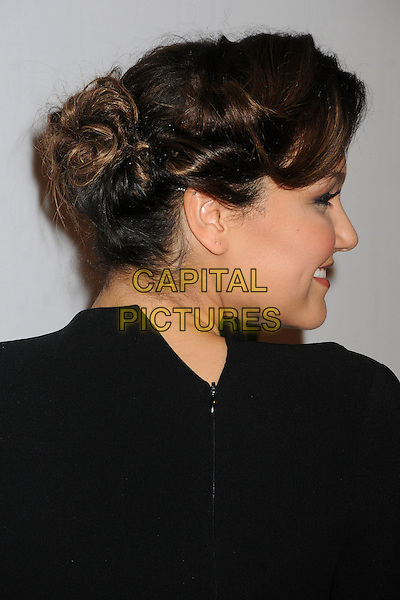 Samantha Barks.16th Annual Hollywood Film Awards Gala held at the Beverly Hilton Hotel, Beverly Hills, California, USA..October 22nd, 2012.headshot portrait black  back behind rear hair up profile bun.CAP/ADM/BP.©Byron Purvis/AdMedia/Capital Pictures.