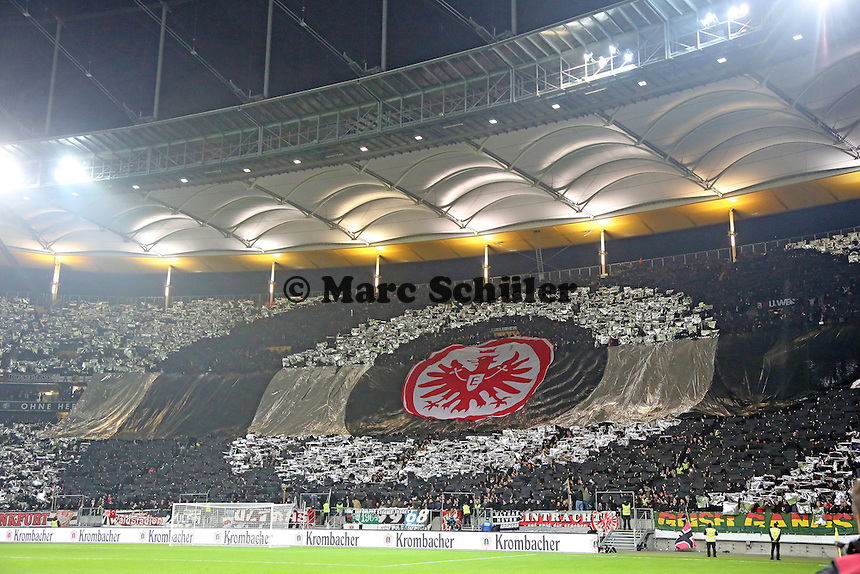 Choreographie der Eintracht Fans - Eintracht Frankfurt vs. APOEL Nikosia, Commerzbank Arena, Europa League Gruppenphase
