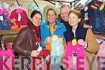 Taking a look at some colourful item on display at the children's clothes and toy market in Scoil Realta Na maidine Listowel on Sunday were Yo Cawoe Verplanke, Marie-Jane Harkin, Blennerville,  Dan and Mireille Murphy, Corrow..