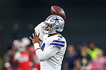 Dallas Cowboys quarterback Dak Prescott (4) in action during the pre-season game between the Tampa Bay Buccaneers and the Dallas Cowboys at the AT & T Stadium in Arlington, Texas.