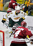 22 November 2011: University of Vermont Catamount forward Connor Brickley, a Sophomore from Everett, MA, in action against the University of Massachusetts Minutemen at Gutterson Fieldhouse in Burlington, Vermont. The Catamounts defeated the Minutemen 2-1 in their annual pre-Thanksgiving meeting of the Hockey East season. Mandatory Credit: Ed Wolfstein Photo