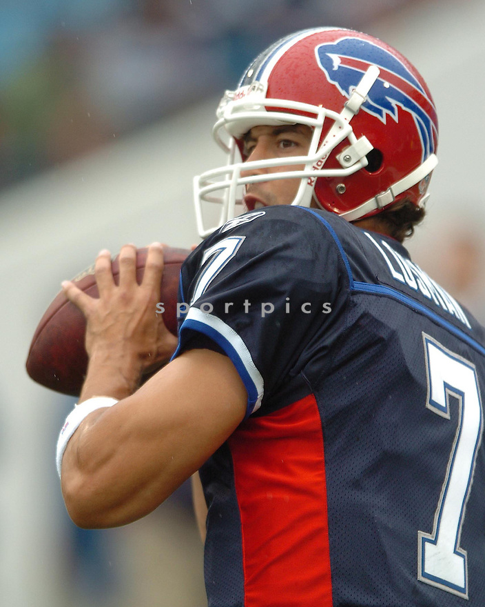 JP LOSMAN, of the Buffalo Bills, in action during the  Bills game against the Denver Broncos.  The Broncos won the game 15-14 in Buffalo, New York.....SPORTPICS...