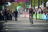 Tom Dumoulin (NLD/Giant-Alpecin) finishing his winning run at the prologue<br /> <br /> stage 1: Apeldoorn prologue 9.8km<br /> 99th Giro d'Italia 2016