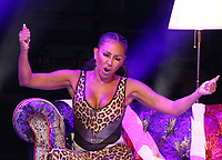 Melanie Brown - aka Mel B - on stage in her Mel B's Brutally Honest & Fabulous Show, Savoy Theatre, The Strand, London, UK - 1st Sept 2019<br /> <br /> Photo by Keith Mayhew