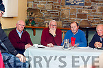 John Brassil TD, Martin Ferris TD, Mike Beasley (Chairman) and Ned Browne at the meeting about the ban on fishing in the Cashen river in Ballyduff at Purcells Bar on Thursday night.