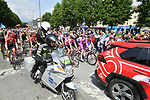 The start of Stage 13 of the 2019 Giro d'Italia, running 196km from Pinerolo to Ceresole Reale (Lago Serrù), Italy. 24th May 2019<br /> Picture: Massimo Paolone/LaPresse | Cyclefile<br /> <br /> All photos usage must carry mandatory copyright credit (© Cyclefile | Massimo Paolone/LaPresse)