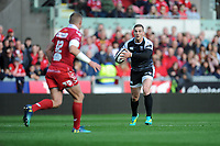 George North of Ospreys in action during the Guinness Pro14 Round 6 match between Scarlets and Ospreys at the Parc Y Scarlets in Llanelli, Wales, UK. October 06, 2018