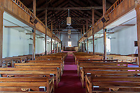 The interior of Mokuaikaua Church, Kailua-Kona, Big Island.